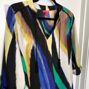 Sunny Leigh watercolor blouse